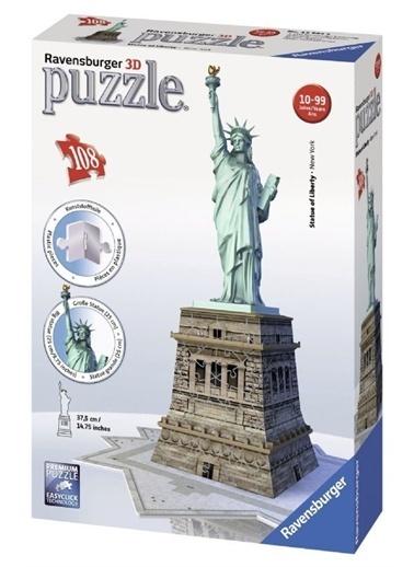 Ravensburger 3D Puzzle Özgürlük Anıtı 125845 Renkli